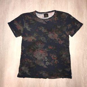 Zara Men's Floral T-Shirt
